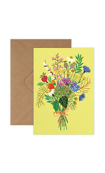 Wild Posy Greeting Card by Brie Harrison