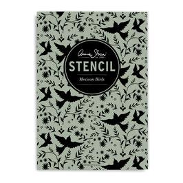 Annie Sloan Stencil  Mexican Birds - Schablone A4 Design