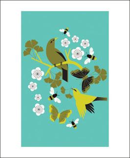 Klappkarte mit Umschlag von ArtAngels: Ginko Buzz