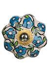 Möbelknauf blaue Blumen
