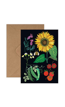 Sunflower Plot Greeting Card by Brie Harrison