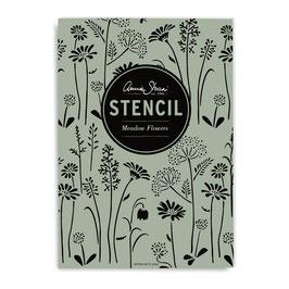 Annie Sloan Stencil  Meadow Flowers - Schablone Blumenwiese A3 Design