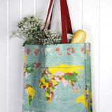 World map design shopping bag by RexLondon