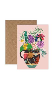 Gardener´s Vase Greeting Card by Brie Harrison