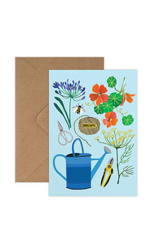 Garden Afternoon Greeting Card by Brie Harrison