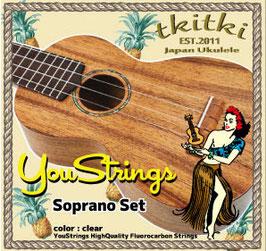TRmusic YouStrings ウクレレ用 フロロ・カーボン 弦 YS-02S