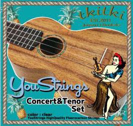 TRmusic YouStrings ウクレレ用 フロロ・カーボン 弦 YS-02CT