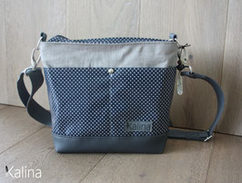 City . Bag . Small . Blue . Dots