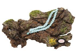 Bracelet Aerin double coton blanc et rocailles de bohème turquoises
