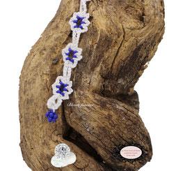bracelet Adronie blanc réalisé au Crochet d'Art