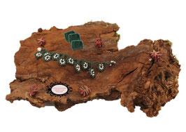 Bracelet Valicia Malachite bijou textile vert foncé  Rocailles de Bohême blanche au Crochet d'Art