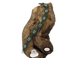 Bracelet Adronie vert, crocheté à la main