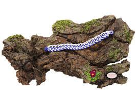 Bracelet Aerin simple rang crocheté: coton blanc et Rocailles de Bohème