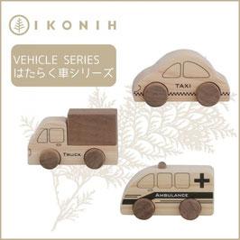 IKONIH アイコニー ひのきのおもちゃ はたらく車シリーズ #11