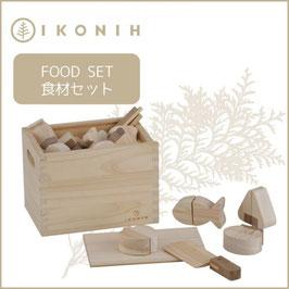 IKONIH アイコニー ひのきのおもちゃ 食材セット #1