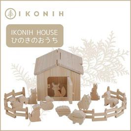 IKONIH アイコニー ひのきのおもちゃ アイコニーハウス #24