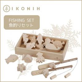 IKONIH アイコニー ひのきのおもちゃ 魚釣りセット #7