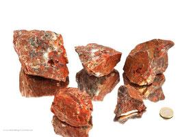 Brekzien Jaspis Rohsteine - 1 kg