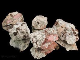 Klinozoisit in Feldspat/Rauchquarz Rohsteine - 1 kg