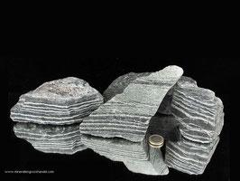 Silberauge - Serpentin - Chrysotil Rohsteine