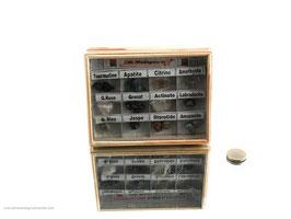 12 Stück Mineraliensammlung Flat Art.Nr.: 10801