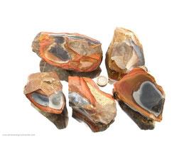 polychromer Jaspis Rohsteine - 1 kg