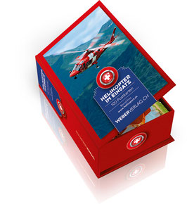 Postkartenbox Helikopter im Einsatz