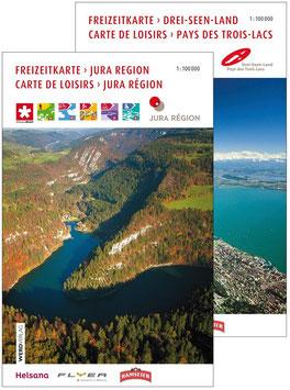 Kombi Freizeitkarte Jura-Region und Drei-Seen-Land