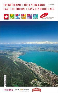 Freizeitkarte Drei-Seen-Land/Carte de Loisirs Pays des Trois-Lacs