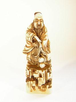 1784 Siegelnetsuke Katabori 形彫 unsterblicher Weiser