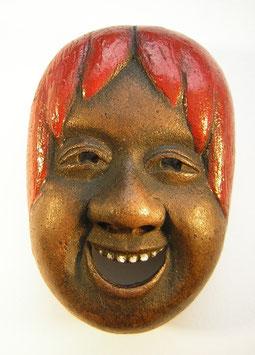 2012 Netsuke 平戸市 Hirado Pottery Shojo Maske