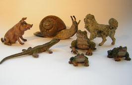 1961 Wiener Bronze Lot 7 Tiere