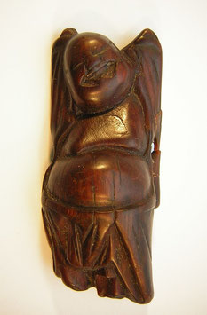 2036 Netsuke Katabori 形彫 Holz Hotei