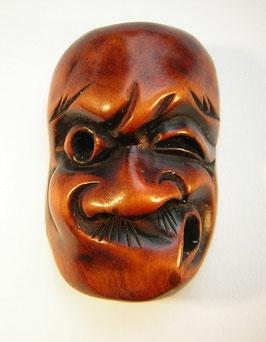 2009 Netsuke Katabori 形彫 Holz Maskennetsuke