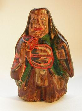 1923 Netsuke Katabori 形彫Holz Shojo