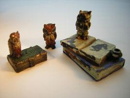 1963 Wiener Bronze Lot 3 Eulen