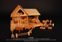 Bauernhof aus Tannenholz