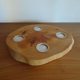 4-facher Teelichthalter aus Zeder