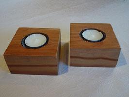 2er Set Teelichthalter aus Zwetschge
