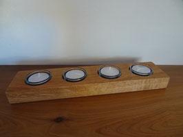 4facher Teelichthalter aus Eiche