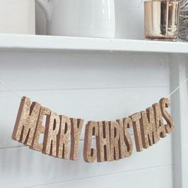 Merry Christmas glitter Girlande