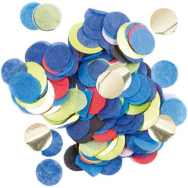 Konfetti Blau rot Mix