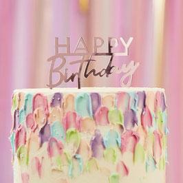 "Rosé Acryl Caketopper  ,,Happy Birthday"" Ginger Ray"