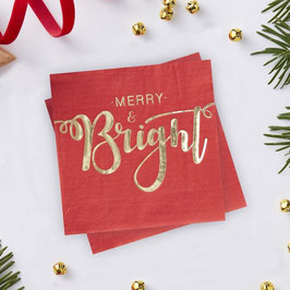 Merry  and Bright Servietten Ginger Ray