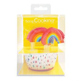Regenbogen Cupcake Set Scrap Cooking