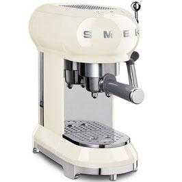 SMEG Espressomaschine 50´Style Creme ECF01CREU