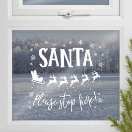 Fensterbild Santa Ginger Ray