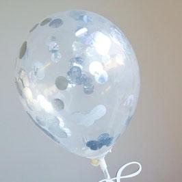 Silber Metallic Caketopper Konfetti Ballon by AmyCakes