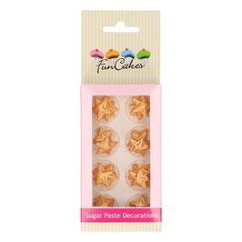 Zuckerdekoration Sterne Gold funcakes