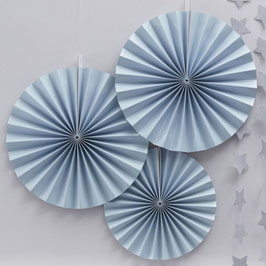 Rosetten Blue - Circle Fan Ginger Ray